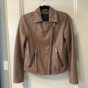 d5e7130423733 All Saints Jackets & Coats | Allsaints Dalby Biker Blush Pink Size 4 ...